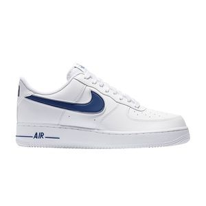 Men's Nike Air Force 1 low White deep royal